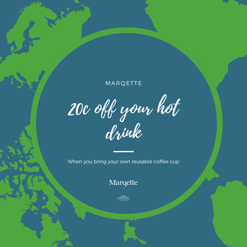 Marqette Conscious Cup Campaign 20c off hot drink Dublin Airport
